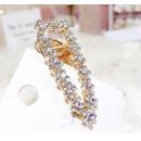 Hair clip XXL gold crystal SP91