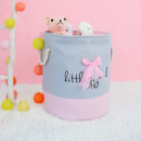 Toy container, basket, blue laundry bag