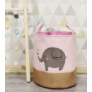 A container for toys, a basket, an elephant's