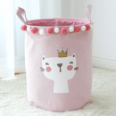 Toy container, basket, pink laundry bag