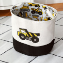 A container for toys, a basket, a laundry bag