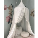 Canopy for cot, lace, large, thick, white B