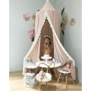 Canopy for a cot, large, thick, pink BA
