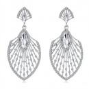 Exclusive crystal jet earrings K1238