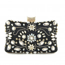 Black evening purse with crystals