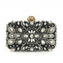 wholesale Bags & Travel accessories: Black evening purse with crystals