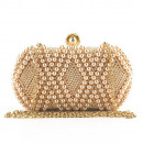 Evening purse, pink with pearls, p