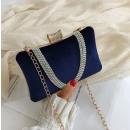 Elegant, evening navy blue purse,