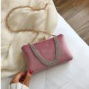 Evening purse, elegant pink, puz