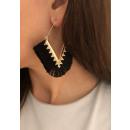 Traingle tassel earrings K1259CZ