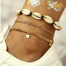 groothandel Sieraden & horloges: B448 schelp armband op de voet