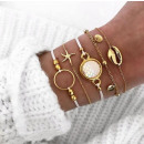 SET 5in1 BRACELETS Golden BOHO B447