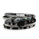 CAVI black interlaced bracelet B463CZ