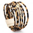 CAVI braided bracelet leopard B465BR