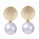 Gold earrings K1170