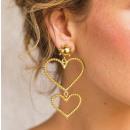 ingrosso Gioielli & Orologi: Orecchini in oro pendenti collezione cuori ...