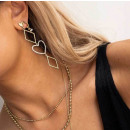nagyker Ékszerek és órák: Arany fülbevalók lógó szívek gyűjteménye K1269