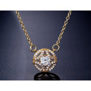 Surgical steel necklace with NST9 crystal