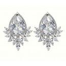 Wedding earrings with crystals steel chirur
