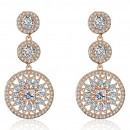 Wedding earrings with crystals steel chirur