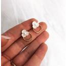 Earrings made of surgical steel KST1529