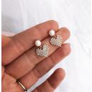 Earrings made of surgical steel KST1530
