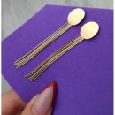Earrings made of surgical steel KST1551