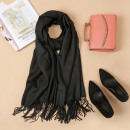 wholesale Scarves & Shawls: Shawl with tassels, black scarf SZA40CZ