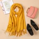 Fringed shawl, mustard scarf SZA40ZO