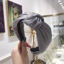 Material turban headband satin gray O221SZ