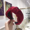 Material turban headband satin burgundy O221CZE
