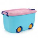 hurtownia Zabawki pluszowe & lalki: Organizer na zabawki na kółkach niebieski OR17N