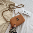 Handbag made of eco-leather caramel T208BR