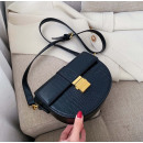 Black leather handbag T209CZ