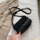 Black leather handbag T210CZ