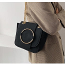 Black leather handbag T211CZ