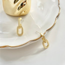 Gold earrings K1277
