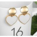 Gold earrings K1289