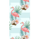 wholesale Bath & Towelling: towel BEACH 170x90 Flamingos and Coconut REC46WZ5