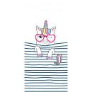 Großhandel Bad- und Frottierwaren: Handtuch Strand rechteckig klein 150x70 Streifen U