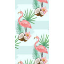 wholesale Bath & Towelling: towel beach rectangular small 150x70 Flamingos and