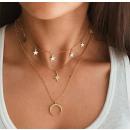 Delicate triple necklace N699
