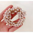 Elastic hair pearls cream GUM19K