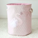 Toy container, basket, swan laundry bag