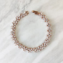 Stainless steel wedding bracelet with crystals