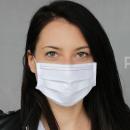 Großhandel Drogerie & Kosmetik: Oekotex weiße Baumwollschutzmaske mit Schaltung