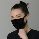 Protective cotton mask Oekotex black MA09