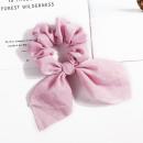 groothandel Haarsieraden: Haarband roze korte sjaal PIN UP GUM6R