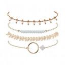 grossiste Bijoux & Montres: Un ensemble de bracelets 4en1 BOHO B479