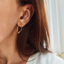 Stainless steel earrings plated with gold K